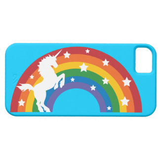Retro Rainbow Unicorn iPhone 5/5S Case