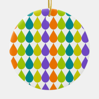 Retro Raindrops3 Christmas Ornament