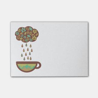 Retro raining tea leaves cloud teacup post-it® notes