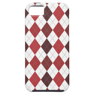 Retro Rauten-Trendy hochrotes Rot iPhone 5 Cover