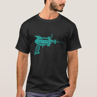Retro Ray Gun in Teal T-Shirt