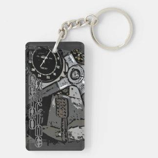 Retro Raycing Double-Sided Rectangular Acrylic Keychain