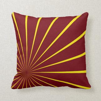 Retro Rays Throw Pillow