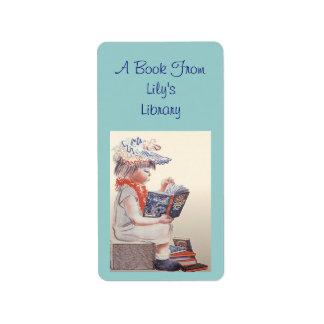 Retro Readers Bookplates Labels Bookplate Label