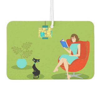 Retro Reading Woman Air Freshener