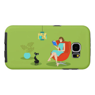 Retro Reading Woman Samsung Galaxy S6 Case