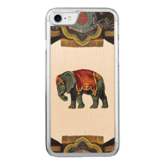 RETRO REBEL Circus Elephant Wood Carved iPhone 8/7 Case