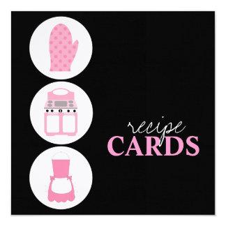 Retro Recipe Cards 13 Cm X 13 Cm Square Invitation Card