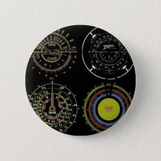 Retro Records 6 Cm Round Badge