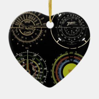 Retro Records Ceramic Heart Decoration