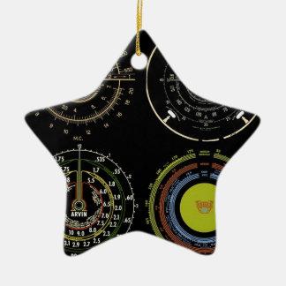 Retro Records Ceramic Star Decoration
