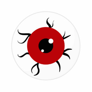 Retro Red and Black Eyeball Acrylic Cut Outs