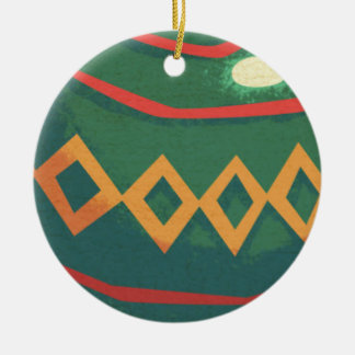 Retro Red and Green Christmas Ornaments