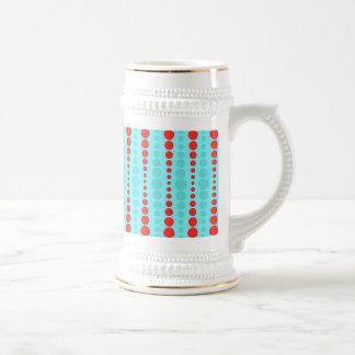 Retro Red and Turquoise Dots Stein Beer Steins