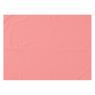 Retro Red and White Checkered Rose Tablecloth