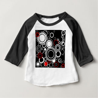 Retro Red And White Circles Baby T-Shirt