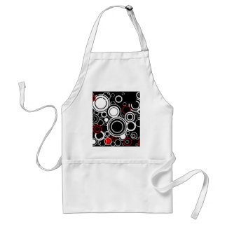 Retro Red And White Circles Standard Apron