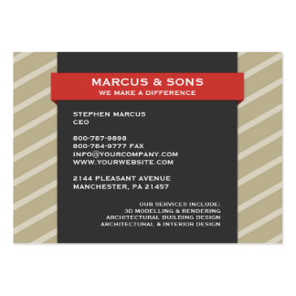 Retro Red Banner Chubby  Business Card