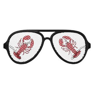 Retro red black lobster rockabilly sunglasses