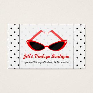 Retro Red Cat Eye Sunglasses & Black Polka Dots