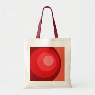 Retro Red Circles Tote Bag