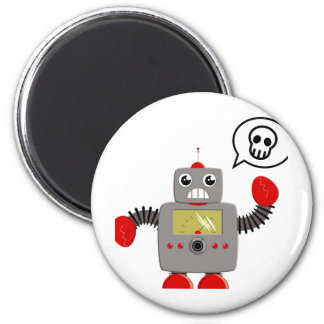 Retro Red Claw Robot Magnet