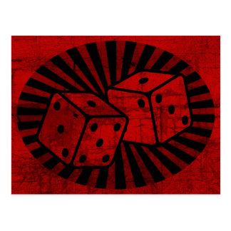 Retro Red Dice Postcard