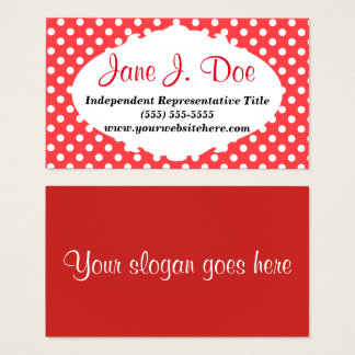 Retro Red Dots Beauty Business Card