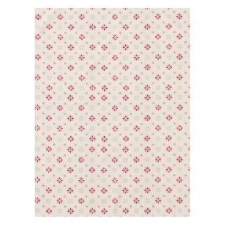 Retro Red Flower Gold Star Vintage Wallpaper Tablecloth