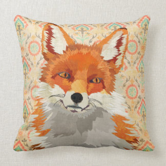 Retro Red Fox Mojo Pillow