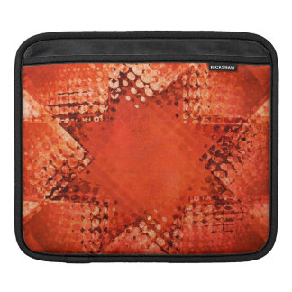 Retro red halftone star ipad sleeve