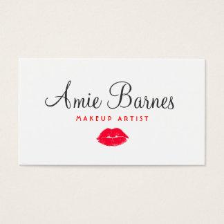 Retro Red Kissing Lips Makeup Artist Beauty Salon