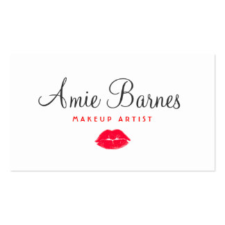 Retro Red Kissing Lips Makeup Artist Beauty Salon Pack Of Standard Business Cards