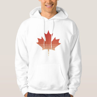Retro Red Maple Leaf Hoodie