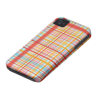 Retro Red Plaid Checks Pattern iPhone 4 CaseMate iPhone 4 Cover