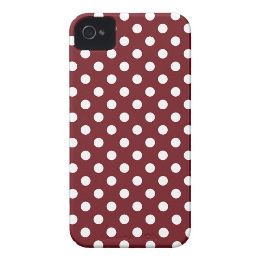 Retro Red Polka Dot Iphone 4/4S Case