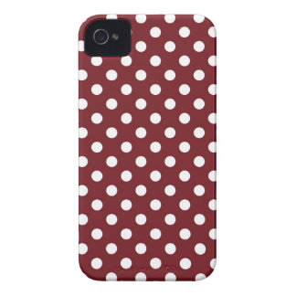 Retro Red Polka Dot Iphone 4 4S Case iPhone 4 Case