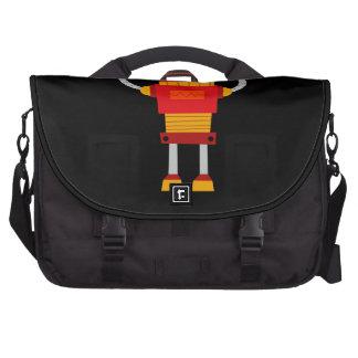 Retro Red Robot Laptop Bags