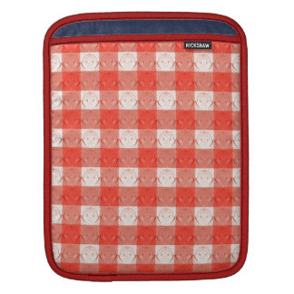 Retro Red Square Design. Embossed Pattern Sleeves For iPads