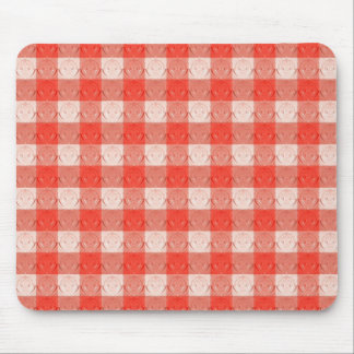 Retro Red Square Design. Embossed Pattern Mousepads
