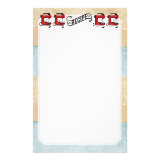 Retro red stand mixer recipe card stationery
