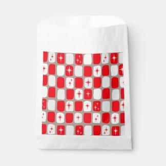 Retro Red Starbursts Favor Bags
