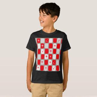 Retro Red Starbursts Kids' T-Shirt