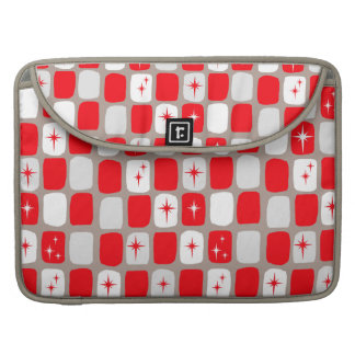 Retro Red Starbursts MacBook Pro Sleeve