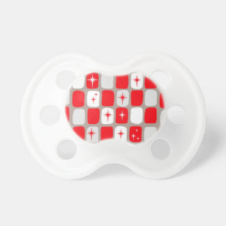 Retro Red Starbursts Pacifier