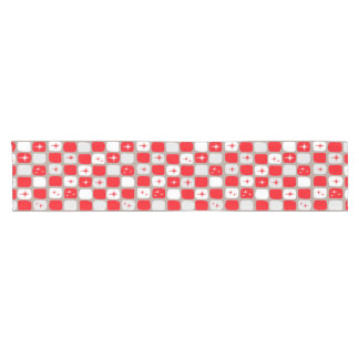 Retro Red Starbursts Table Runner
