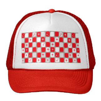 Retro Red Starbursts Trucker Hat