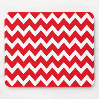 Retro RED Zig Zag Pattern Mouse Pad