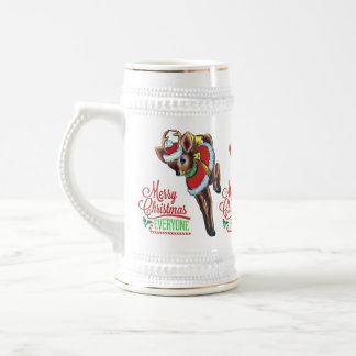 retro reindeer cute santa christmas tankard beer steins