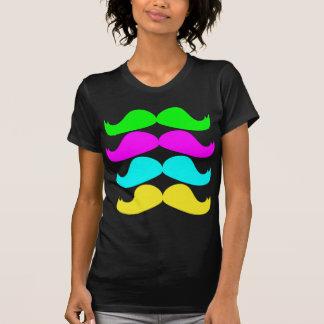 Retro RGB Fluo Moustaches T-Shirt